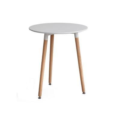 Kerek étkezőasztal, 3 lábbal, 60 cm, fehér-bükk - FJORD